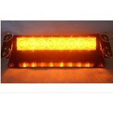 8 LED Warning Caution Car Van Truck Emergency Strobe Light Lamp For Interior Roof / Dash / Windshield (Amber)
