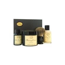 The 4 Elements Of The Perfect Shave Kit - Unscented Original By The Art Of Shaving 2Oz Pre-Shave Oil, 5Oz Shaving Cream , 3.3Oz After-Shave Balm , Pure Badger Black Shaving Brush For Men 4 Pc Kit