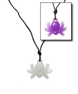 Color Changing Solar Activated UV Spider Necklace and Ring set