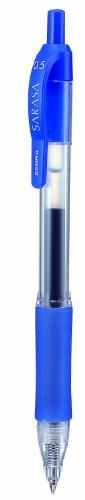 Zebra Sarasa Retractable Rollerball Gel Ink Pen Fine Blue Ref 46720 [Pack 12]