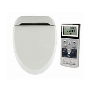 Coco Bidet 6035RS Round Electronic Toilet Seat Remote Control Heated Seat Air Dry & Deodorizer