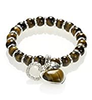 Bauble Bead & Heart Charm Bracelet