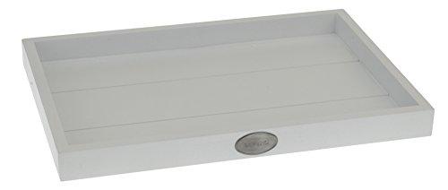 Holz Tablett Living - Weiß - 26x18cm
