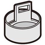 シャープ[SHARP] シャープ洗濯機用給水弁用フィルター(210 337 0444) 【2103370444】