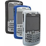 BlackBerry Curve 8300 Gel Skins Tri-Pack (Black, White, Blue) in Retail Packaging from BlackBerry