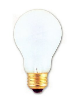 Incandescent Light Bulb, Long Life A-19, 20,000 Hours, 60 Watt, Frosted