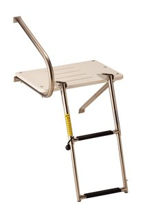 Garelick 19537:01 Transom Platform with Telescoping Ladder