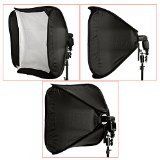 """Neewer 24""""x24""""/60cmx60cm Professional Protable Foldable Off-Camera Flash Photography Studio, Portrait Soft Box with L-shaped bracket & flash Ring, Outer Diffuser and Carrying Case"""