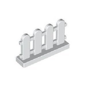 Lego Building Accessories 1 x 4 x 2 White Picket Fence, Bulk - 50 Pieces per Package (Lego Pieces Package compare prices)