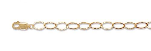 8 Inch 14/20 Gold Filled Oval Textured Link Bracelet