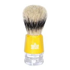Omega Boar Hair Clearly Yellow Shaving Brush - #10218Y