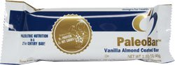 Designs for Health Paleobar Bar Sugar Free Vanilla Almond Coated OU Dairy 1 Case - 18 Bars