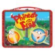 Disney Phineas and Ferb Red Metal Lunch Box(pattern vary)