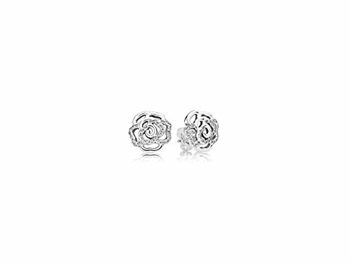 Rose Earrings Pandora Pandora 290575cz Earring Studs