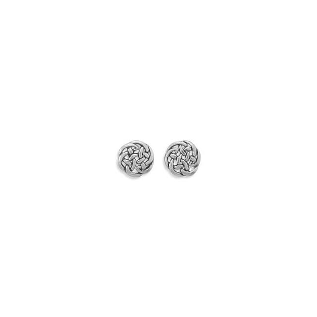 SCJ Sterling Silver Earrings Stud Celtic Knot Jewelry