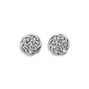 Sterling Silver Earrings Stud Celtic Knot