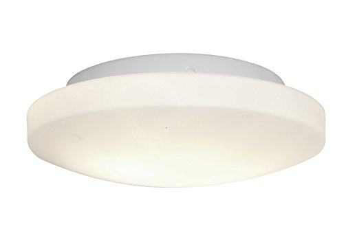 Access Lighting 50160Led-Wh/Opl Orion Led Light 11-Inch Diameter Flush Mount With Opal Glass Shade, White Finish