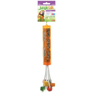 Cheap Brand New, Jungle Talk Snac-n-Play Treat Stick Holder Small Bird Toy Assorted Colors (Bird – Treats) (MSS085-31000-RR|1)