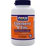 Now Foods Elderberry & Zinc, 90 lozenges