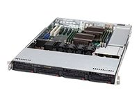 Supermicro 560-Watt 1U Rackmount Server Chassis  with Backplane Cooling System, Black CSE-815TQ-563CB