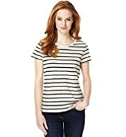 Textured Striped T-Shirt