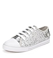 Buckle Glitter Trainers
