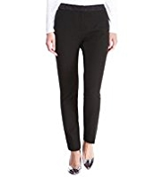 M&S Collection Modern Slim Leg Jacquard Trim Trousers