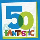 50th The Big Day 13 in. Lunch Napkin - 16/Pkg.