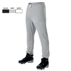 Elastic Waist Baseball Pant - Youth Youth/Black/MED - 1