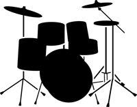 Drum Set Stencil - 12 Inch (At Longest Point) - 14 Mil Heavy-Duty