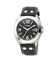 Autograph Round Face Analogue Riveted Watch