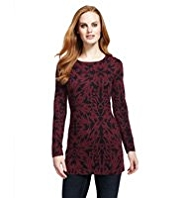 M&S Collection All-Over Scroll Print Tunic