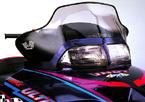 Cobra Mid-Profile Windshield for Polaris Aggressive Chassis Clear / Gloss Black