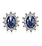 Platinum Plated Floral Diamant Earrings