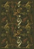 "Joy Carpets Kid Essentials Music & Special Needs Virtuoso Rug, Green, 5'4"" x 7'8"""