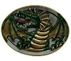 DRAGON (OVAL) Belt Buckle