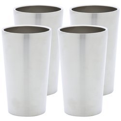 Maxam 4pc Double Wall 13oz Stainless Steel Tumbler Set- Wall Ss Tumbler