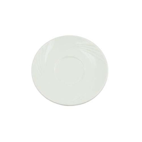 Garden State Emboss Pattern 7 Inch White Saucers For Gad56 - Case Of 36