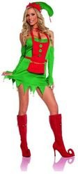 Elegant Moments,Inc - Holiday Helper Women's Costume Green Large