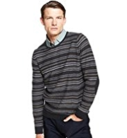 Autograph Pure Wool Reverse Fair Isle Jumper