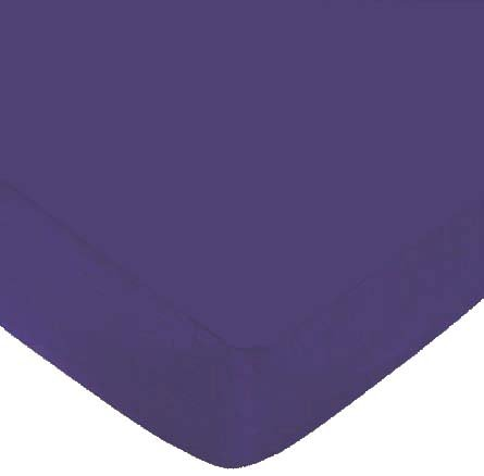 Fitted Oval Crib Sheet (Stokke Sleepi) - Purple Jersey Knit - Made In Usa front-119599