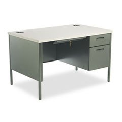 * Metro Classic Right Pedestal Desk, 48w x 30d x 29-1/2h, Gray Patterned