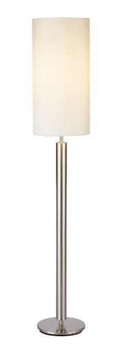 this deals adesso hollywood floor lamp satin steel this. Black Bedroom Furniture Sets. Home Design Ideas