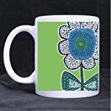 vera-bradley-flower-11-oz-white-mug-100-ceramic-coffee-tea-white-cup