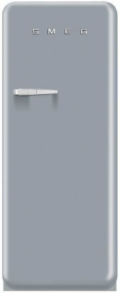 Smeg FAB28UXR 50's Retro Style Aesthetic Refrigerator with Freezer Compartment, Silver