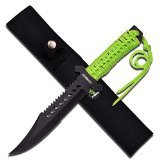 Master Cutlery Z-Hunter 4.75-Inch Folder Knife with Aluminum Handle, Black/Green (Master Cutlery Zhunter compare prices)
