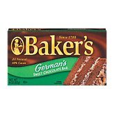 Kraft Baking & Canning Baker's Chocolate Bar German's Sweet $4.28 4-oz (043000252352)