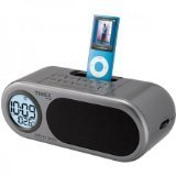 Timex T172G Dual Alarm Clock with AM/FM Radio and iPod Dock (Silver)