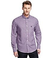 Blue Harbour Supersoft Pure Cotton Mini Checked Shirt