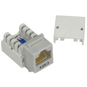 InstallerParts Cat 6 RJ45 110 Type Keystone Jack Gray